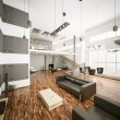 Stock Photo: Modern apartment interior 3d