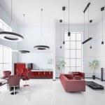 Modern apartment interior 3d render — Stock Photo