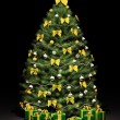 Royalty-Free Stock Photo: Christmas fir tree with decorations 3d render