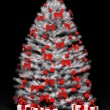 Christmas tree over the black 3d — Stock Photo #4289116