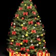 Christmas tree over the black 3d — Stock Photo #4335508