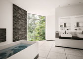 Modern bathroom interior 3d render — Stock Photo
