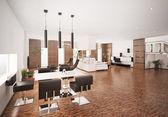 Interior de render 3d apartamento moderno — Foto de Stock
