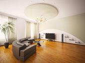 Modern living room interior 3d render — Stock Photo