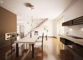 Interior of modern kitchen 3d render — Stock fotografie
