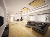 Interieur des modernen wohnung 3d render — Stockfoto