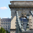 Szechenyi Chain Bridge, Budapest — Stock Photo