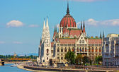 Budapest, the building of the Parliament — Stock Photo