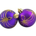 Lilac Christmas Toy Ball — Stock Photo #4525167