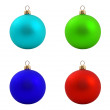 Stock Photo: Set of christmas balls