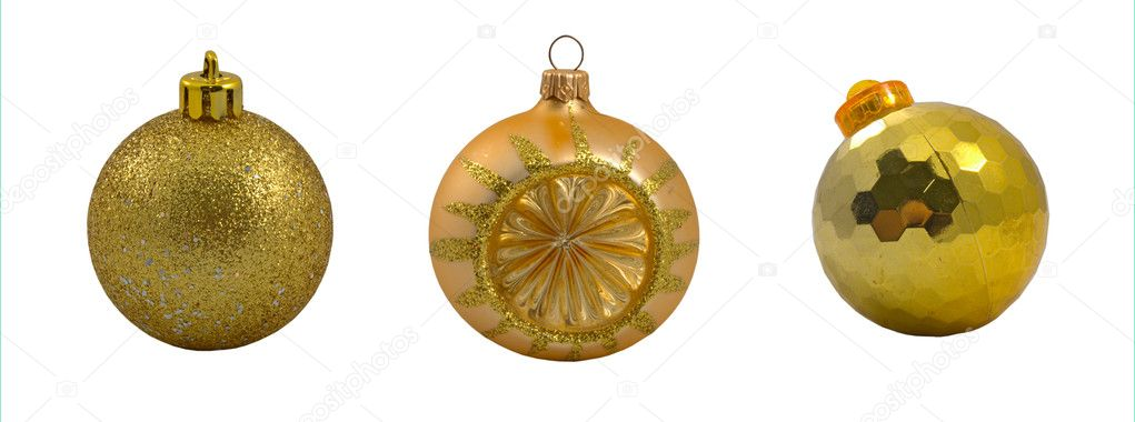 Set of christmas balls on the white background — Stock Photo #4525250
