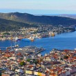 Landscape of the Bergen city taken in Norway — Stock Photo