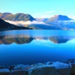 Scandinavian mountains, The North sea — Stock Photo #4988490