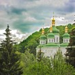 Church in Kiev Botanical Garden in spring. Kiev — Stock Photo