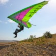 Hang gliding in Crimea taken in summer — Foto de Stock