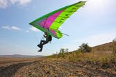 Hang gliding in Crimea taken in summer — Stock Photo