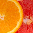 Orange, grapefruit (clipping path) — Stock Photo