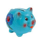 A blue piggy bank — Stock Photo