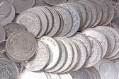 古い銀のコイン — ストック写真