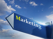 Segno di marketing — Foto Stock