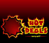 Hot deals — Stock Vector