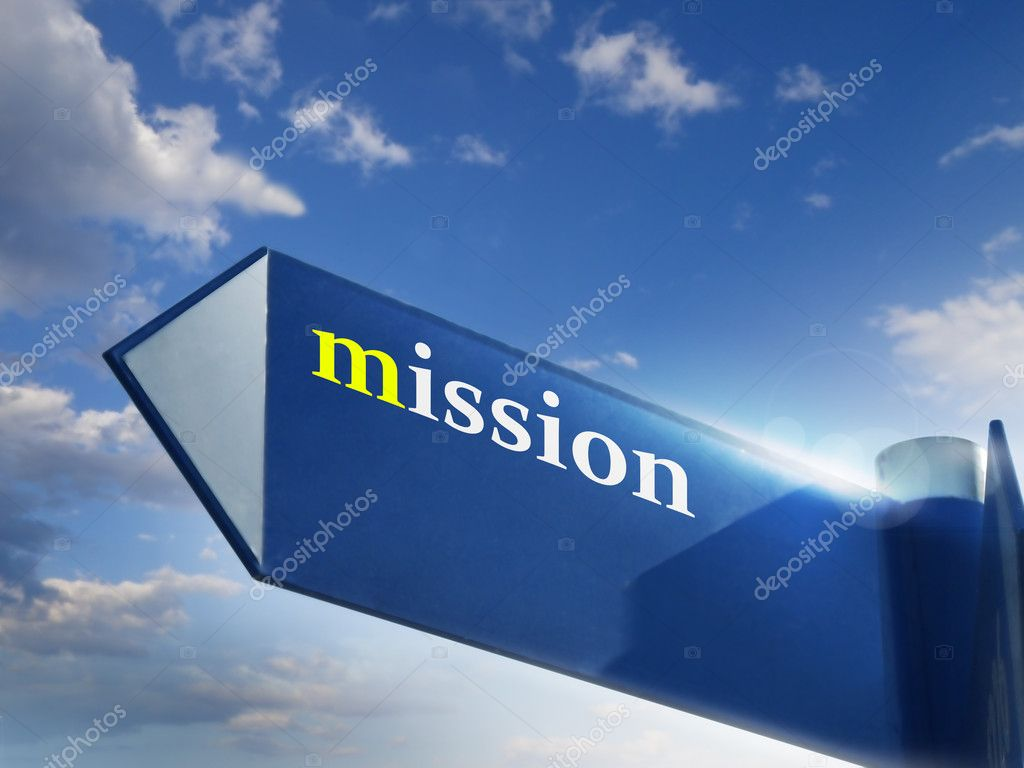 Mission road sign for business and marketing concepts — Stock Photo #5009747