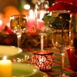 Christmas place setting - Foto Stock