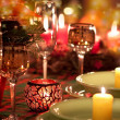 Christmas place setting — Stockfoto #4232983