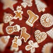 Sweet christmas gingerbreads — Stock Photo #4233043