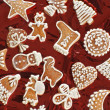 Sweet christmas gingerbreads — Stock Photo #4233045