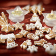 Stock Photo: Sweet christmas gingerbreads