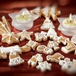 Sweet christmas gingerbreads — Stock Photo