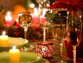 Christmas place setting — Stockfoto