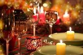 Christmas place setting — Photo