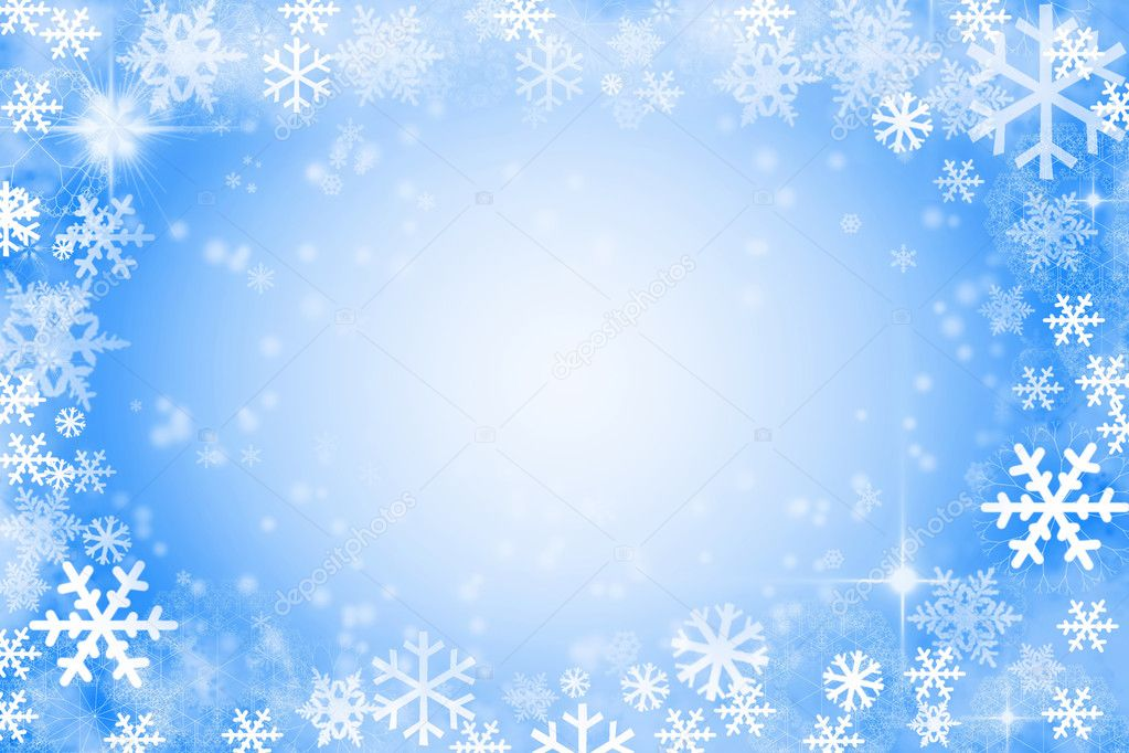 Background of snowflake and stars — Stock Photo #4357294