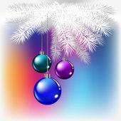 色付きの背景でクリスマス ボール — ストックベクタ