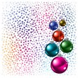 Royalty-Free Stock Vektorfiler: Christmas background colored balls with stars on a white