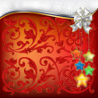 Christmas decorations with white bow and stars - Vettoriali Stock