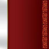 Fondo abstracto con ornamento floral rojo en la oscuridad — Vector de stock