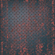 Texture of rusty metal mesh - Stockvektor