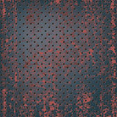 Texture of rusty metal mesh — Stok Vektör