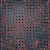 Texture of rusty metal mesh — Stock Vector