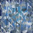 Royalty-Free Stock Vektorový obrázek: Abstract cracked background blue musical note