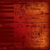 Abstract jazz background piano keys on red — Stockvector
