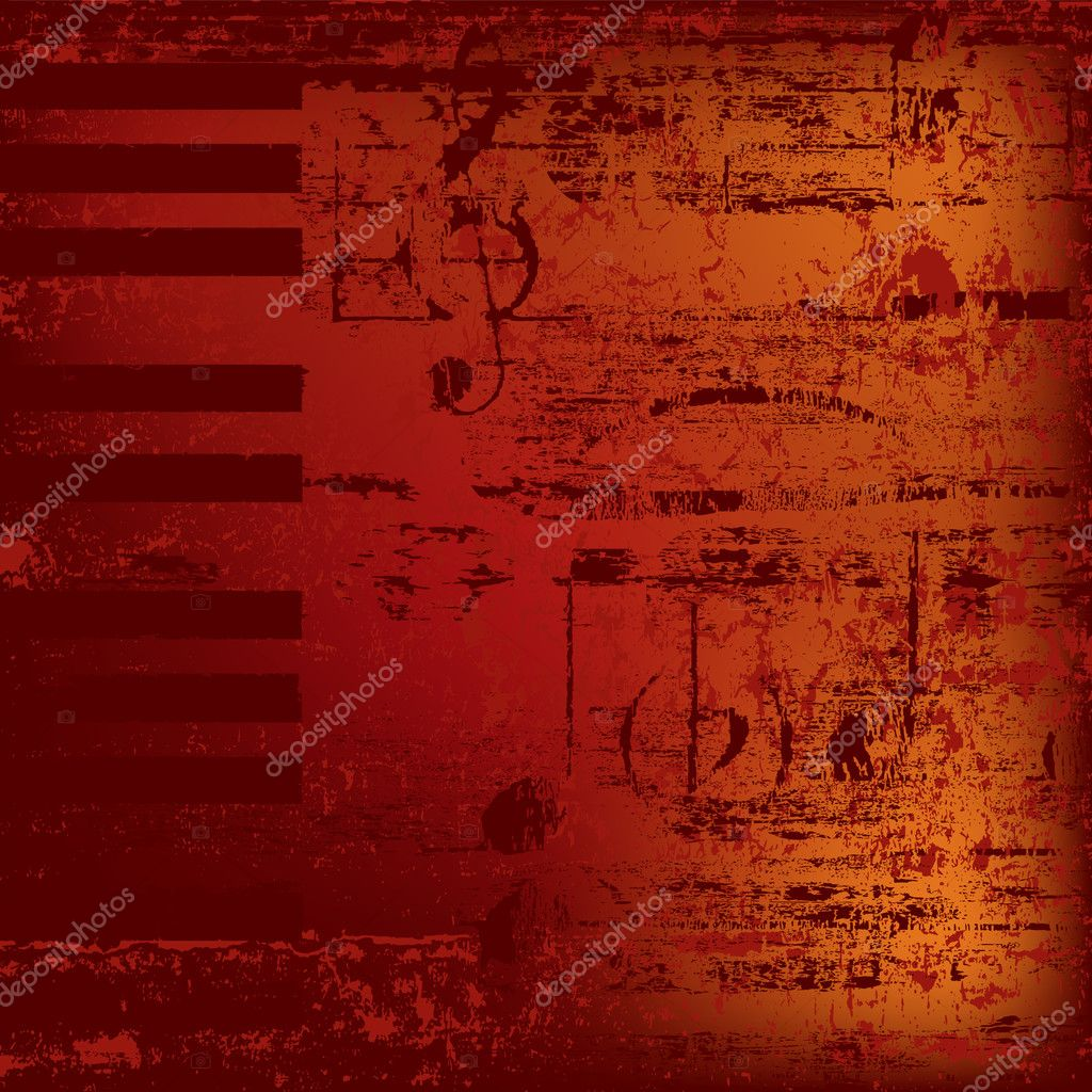 Abstract jazz background piano keys on red  Stock Vector #4307620