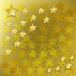 Abstract background with gold stars — Stock Vector