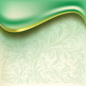 Abstract background with green wave — Stock Vector