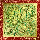 Abstrakt mit gebrochenen floral ornament — Stockvektor