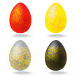 Stock Vector: Easter eggs collection