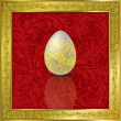 Easter egg on red - Stock Vector